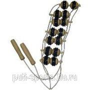 Массажёр для спины с резиной (7 рядов роликов) фото