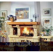 Облицовка камина La Romaine Caraibe с банкеткой фото