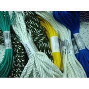 Веревки крученые и плетеные из синтетических волокон.