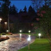Проектирование ландшафтного освещения фото