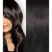Волосы на заколках натуральные модель 01 Jet Black фото