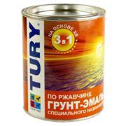 Грунт-эмаль по ржавчине 3 в 1 ХВ (банка 0,9 кг) фото