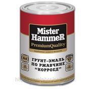 Грунт-эмаль по ржавчине «КОРРОЕД» 3 в 1 Mister Hammer темно-вишневый (RAL 3005) 1,9кг. фото