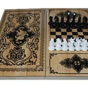 Игровой набор: шахматы+нарды+шашки фото