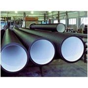Труба гофрированная SN4 с раструбом D200мм (6 метров) для канализации