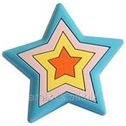 Ручка-кнопка резиновая Звезда - 05.108.001 BL фото