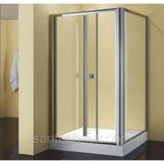 Уголок душевой STURM Melody 800х800мм правый, прозрачное стекло, профиль хром фото