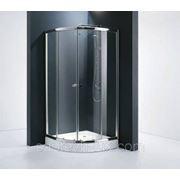 Уголок душевой STURM Gallery 1000х1000мм увеличенная высота, стекло с белыми полосками, профиль хром фото