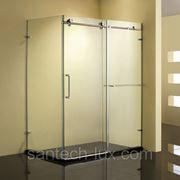 Уголок душевой STURM Credo 1500х850мм левый, правый,прозрачное стекло, профиль хром фото