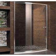 Дверь для душа STURM Motion 1400мм прозрачное стекло, профиль хром фото