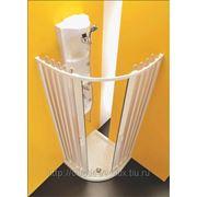 Полукруглая душевая шторка гармошка Forte Sfera2 Colibri.Центральное открывание. фото