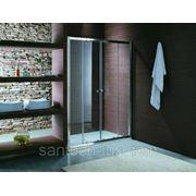 Дверь для душа STURM Entrada 1400мм прозрачное стекло, профиль хром фото