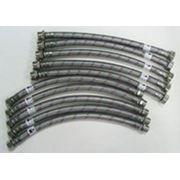 Гибкая подводка для воды в металлической оплетке 1/2» Г/Ш фото