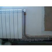 Гибкие гофрированные нержавеющие шланги для подключения радиаторов фото