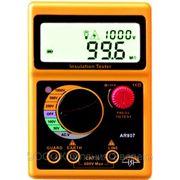 Измеритель сопротивления изоляции, мегаомметр AR907 фото