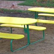 Мебель для детских садов, яслей 2606 - Стол со скамьями детский фото