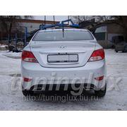 "Тюнинг Hyundai Solaris, диффузор ""Sport Classic"" на задний бампер фото"