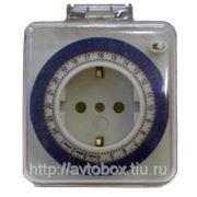 Механический таймер - розетка с таймером 16А, 3,5кВт, 220В фото