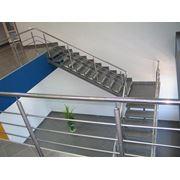 лестница на двух прямых косоурах фото