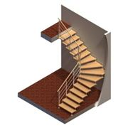 Лестница на больцах Проект №1 фото