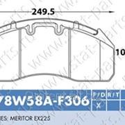 Колодки Тормозные 29174 78W58A-Mez фото