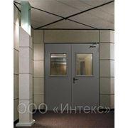 Дверь противопожарная двупольная остекленная EI60 фото