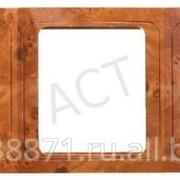 Панель Светозар Гамма накладная, горизонтальная, цвет орех, 3 гнезда фото