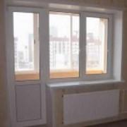 Балконный блок металлопластиковая дверь + пластиковое окно фото