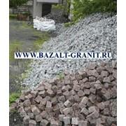 Брусчатка базальтовая колотая 100x100x50 фото