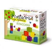 """Деревянные кубики """"Классика"""" (Набор классических цветных деревянных кубиков. 12 штук, 5 цветов.) фото"""