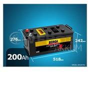 Батарея Berga Truck Basic-block 200Ah обратная полярность фото