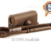 Доводчик дверной Нора-М №3S (80 кг большой серебро) фото