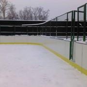 Площадки хоккейные из ПНД с монтажом фото