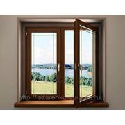 Окна деревянные стеклопакет фото