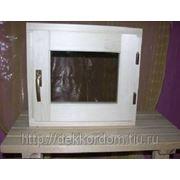 Окно для бани глухое 300,400,500х300,400,500мм из Осины фото