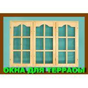 Деревянные окна для веранд и террас ! фото