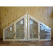 Окна деревянные для дачи под косые проемы для крыши на заказ фото