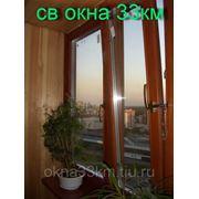 Деревянные окна со стеклопакетом и балконные двери фото