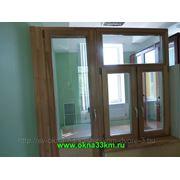 Экологичные деревянные окна из натурального дерева с покраской фото