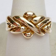 Золотое кольцо головоломка (унисекс) от WickerRing фото