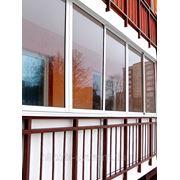 Балконы и лоджии из ПВХ фото