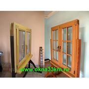 Окна деревянные для дачи эконом с доставкой от производителя. фото