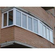 Застекление балконов фото
