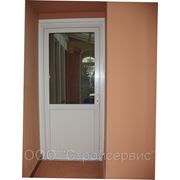 Дверь входная из ПВХ фото