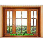 Экологичные деревянные окна из натурального дерева фото
