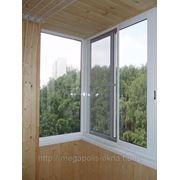 Балкон(Г-образный балкон 3000х1600 800х1600) - раздвижная система фото