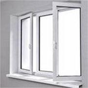 Двухстворчатое окно пвх фото