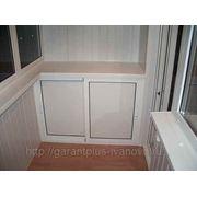 Шкафчик ПВХ на балкон фото
