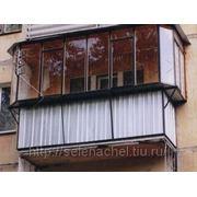 Балконные металлические рамы фото