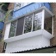 Остекление Балконов алюминиевым профилем фото